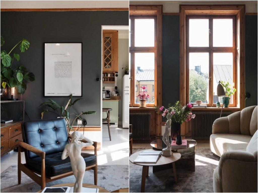 Перекрасить и не пожалеть: 5 красивых интерьеров в темной палитре