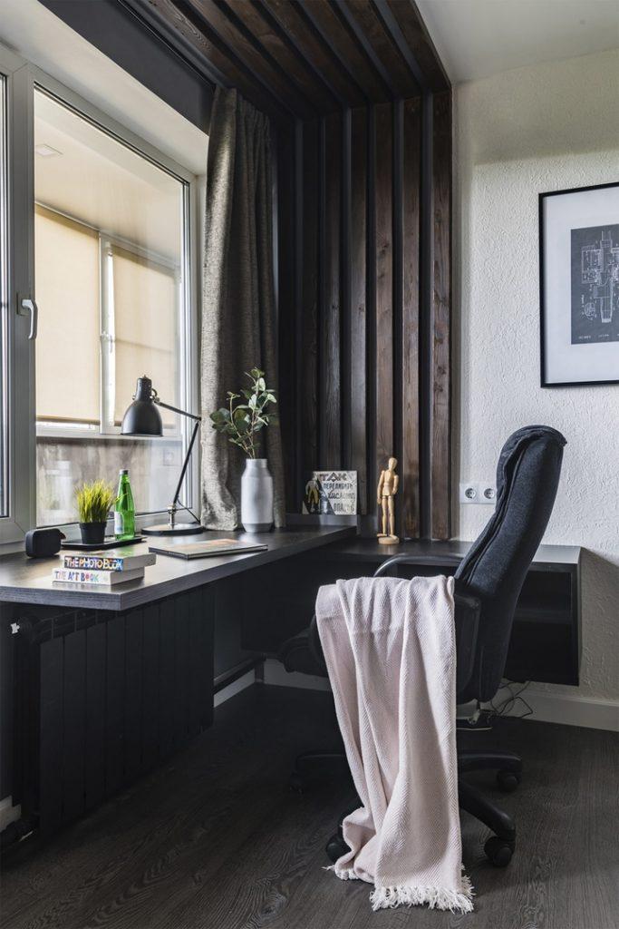 Экономичный ремонт однокомнатной квартиры площадью 35 м² в стиле лофт