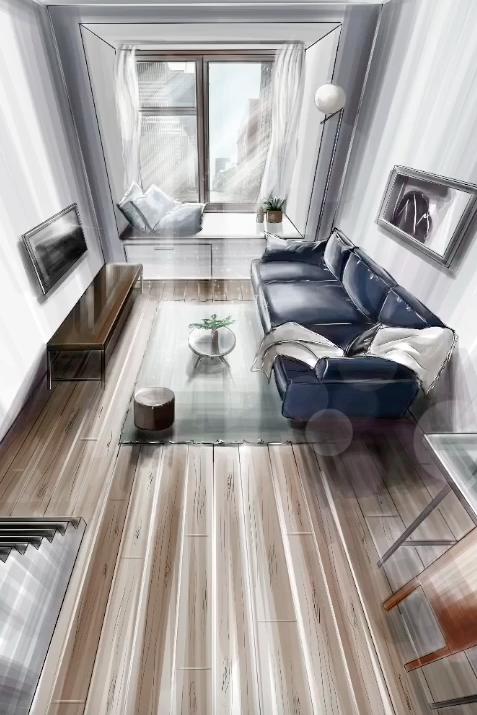 Интерьерные скетчи: увлекательный процесс создания скетча с интерьером гостиной