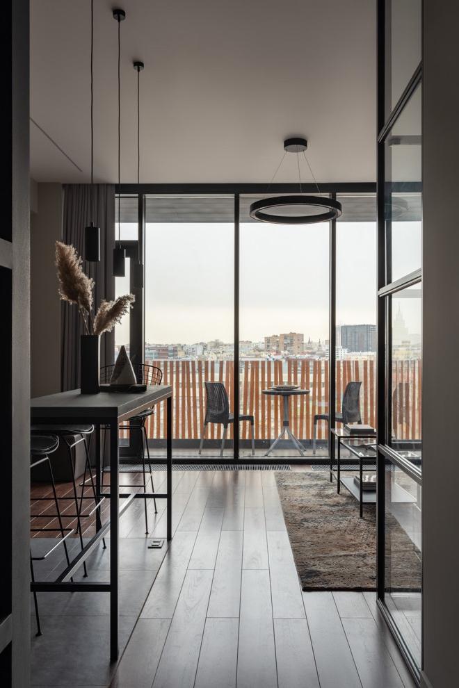 Уютный лофт: интерьер квартиры площадью 43,4 м² в бывшем здании завода