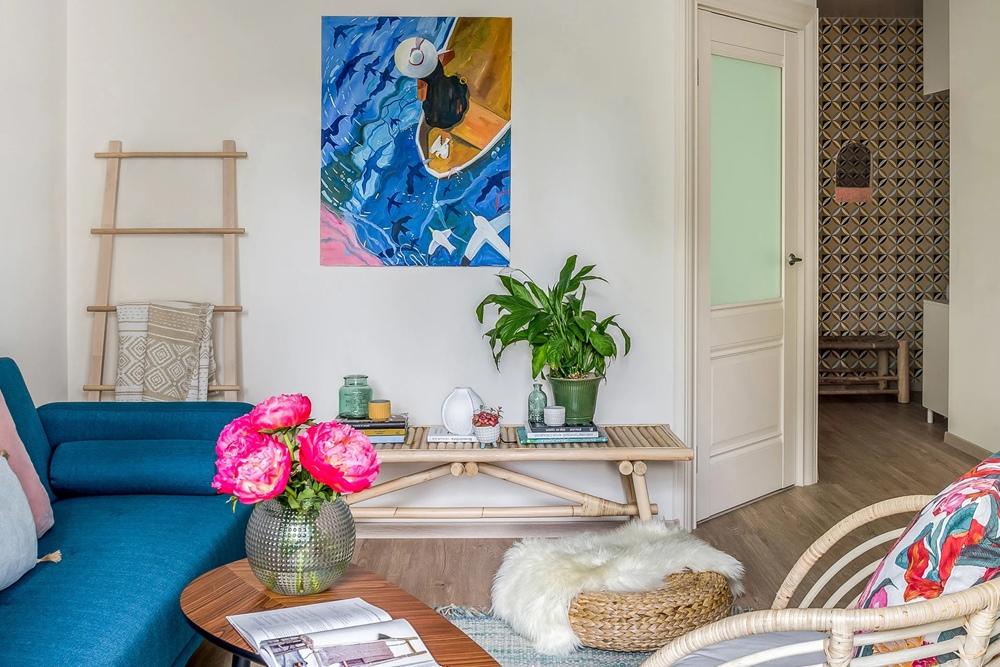 Жизнерадостный интерьер однокомнатной квартиры площадью 39 м² с элементами бохо