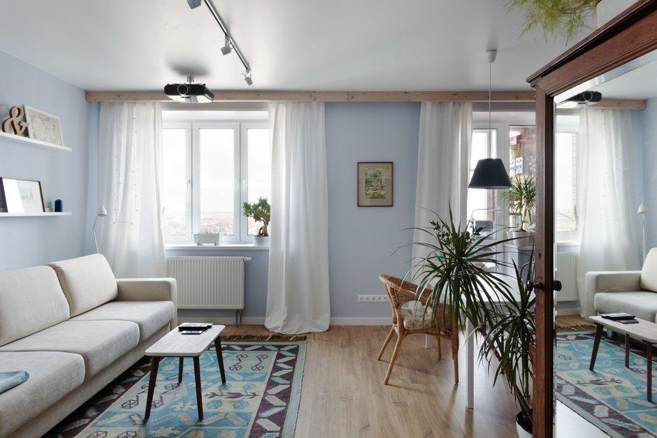 Пример для подражания: стильный и простой скандинавский интерьер квартиры 36 м², созданный самими хозяевами