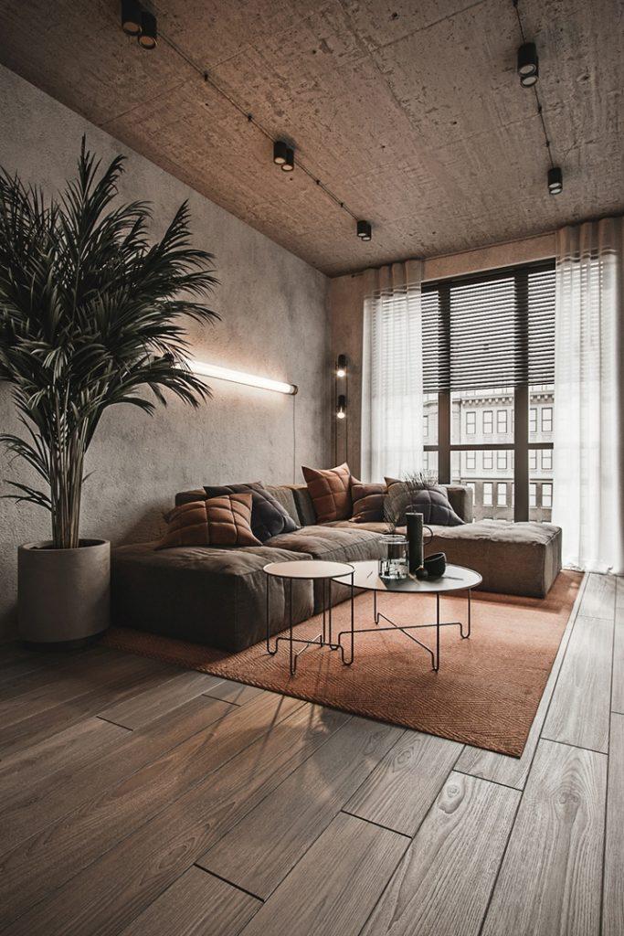 Брутальный стиль: как создать лофт дизайн однокомнатной квартиры