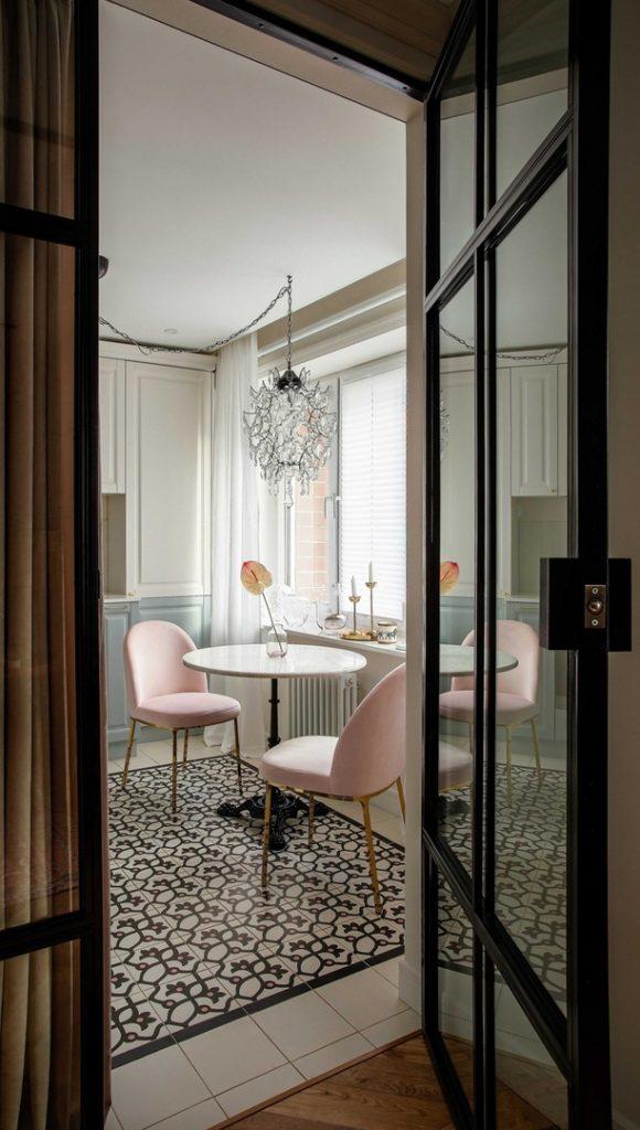 Интерьер квартиры площадью 48 м² в очаровательном стиле бохо