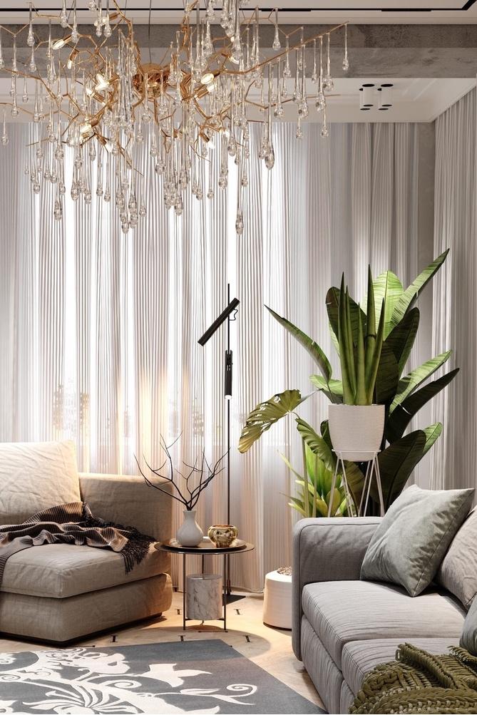 Вдохновение классикой: роскошный интерьер современной гостиной от студии SY Design Group